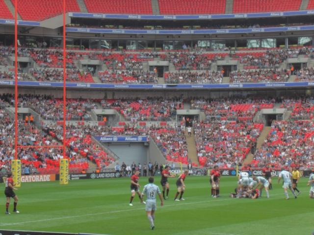Saracens v Leicester at Wembley 15th September 2012